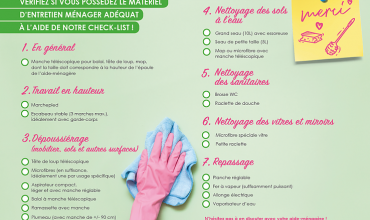 Vous avez le bon matériel pour votre aide-ménagère?