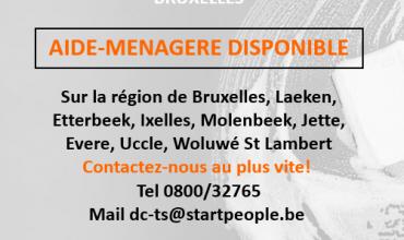 A la recherche d'une aide-ménagère (h/f) sur la région de Bruxelles?