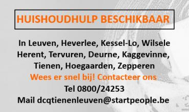 Huishoudhulpen beschikbaar regio Tienen-Leuven!