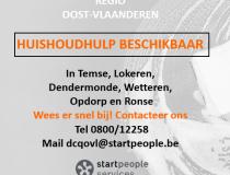 Huishoudhulpen beschikbaar in Oost-Vlaanderen!