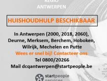 Huishoudhulpen beschikbaar regio Antwerpen