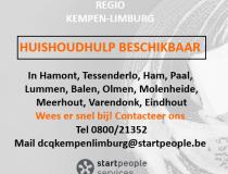 Huishoudhulpen beschikbaar regio Kempen-Limburg!